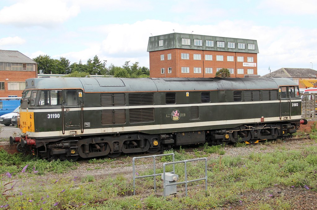 BARS Class 31 31190 at Westbury, 10th. August 2013 by Crewcastrian