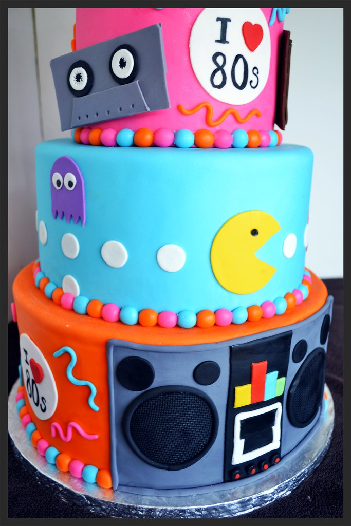 Super 80S Themed Birthday Cake Simply Sweet Creations Flickr Funny Birthday Cards Online Barepcheapnameinfo