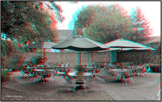 Chairs and tables - 3d anaglyph