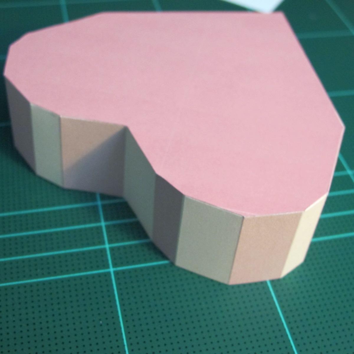 วิธีทำโมเดลกระดาษเป็นกล่องของขวัญรูปหัวใจ (Heart Box Papercraft Model) 009