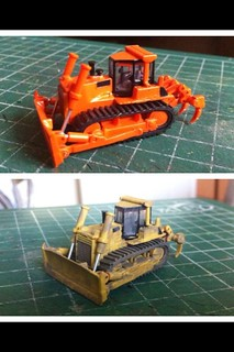 N' scale modified/weathered Bulldozer   Modified bulldozer …   Flickr