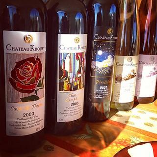 Wine tasting at Chateau Khoury. One...