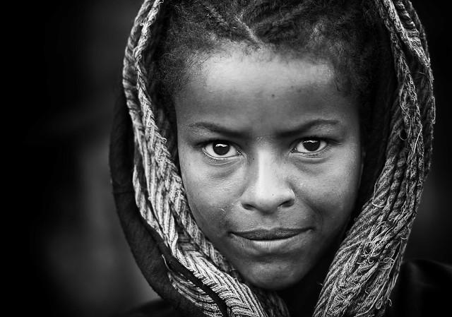 Ragazza etiope