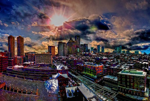 yawkey center mass massachusetts general hospital boston skyline composite manipulation stitch photos new sky sunrise photoshop flickr yahoo daum hdr paint imagination improve color hue saturation usa snow cold view sun clouds android colourful red blue green white air eye art landscape interesting creative surreal avant guarde image google pinterest facebook tinder tumbler