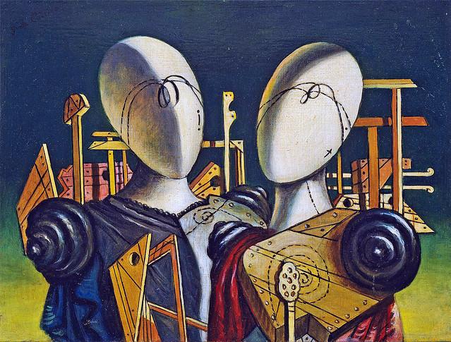 de Chirico - Hector and Andromache [1970]