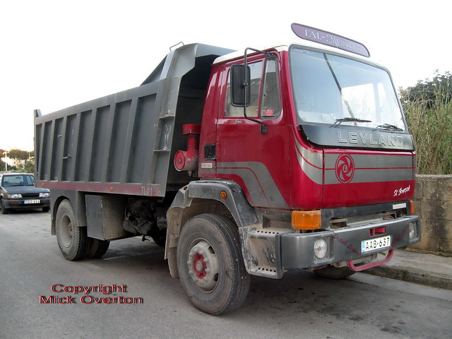 Leyland tipper AAB637 still at work in Malta 2012