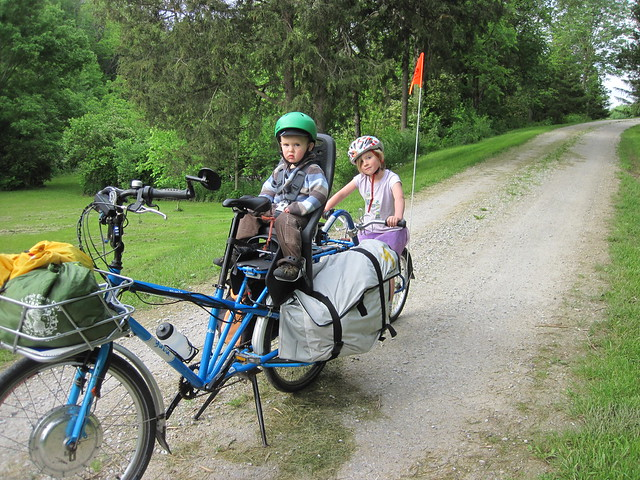 electric cargo bike camping - heading out