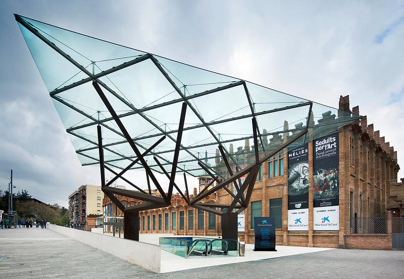 Caixaforum (Casaramona Factory) | Barcelona, Spain | New Entrance: Arata Isozaki