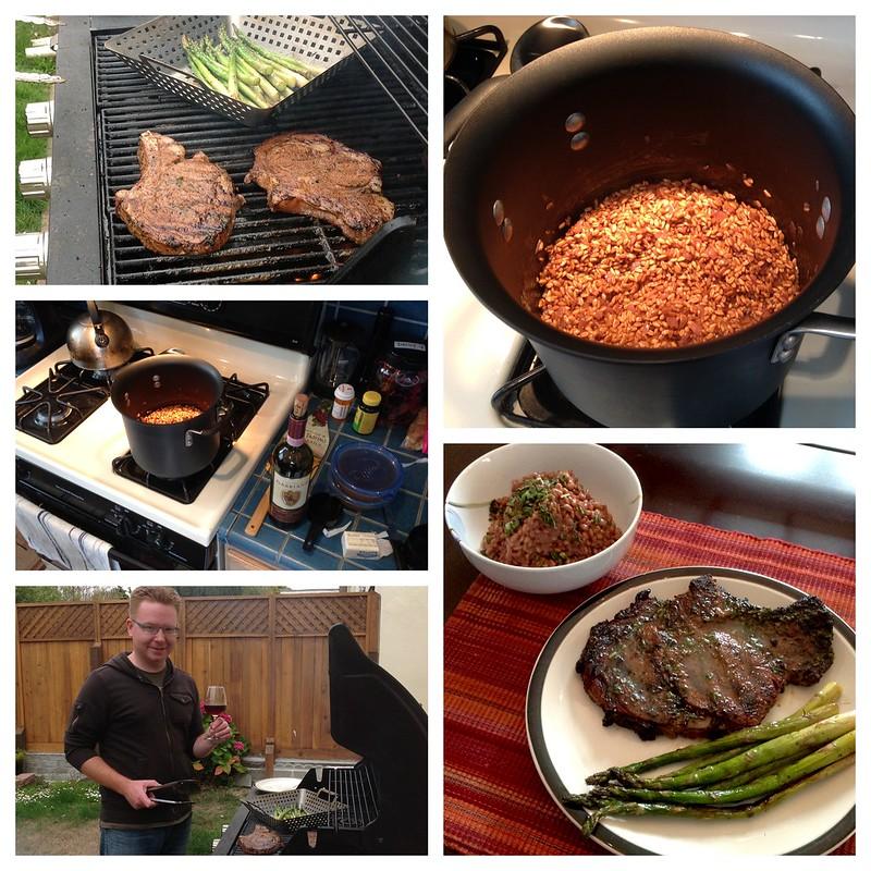 Dinner: Steak & Farro