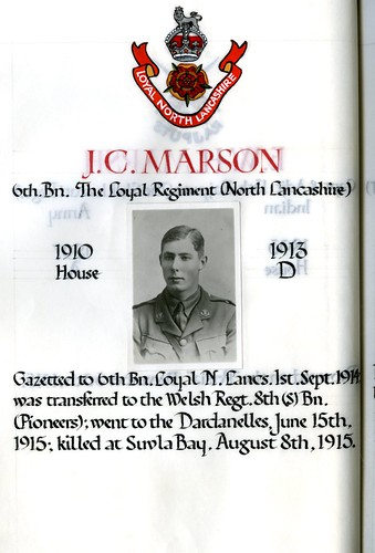Marson, John Charles (1896-1915) | by sherborneschoolarchives