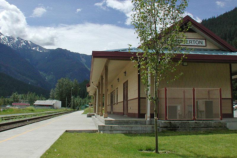 Railway Station, Pemberton, Pemberton Valley, British Columbia, Canada