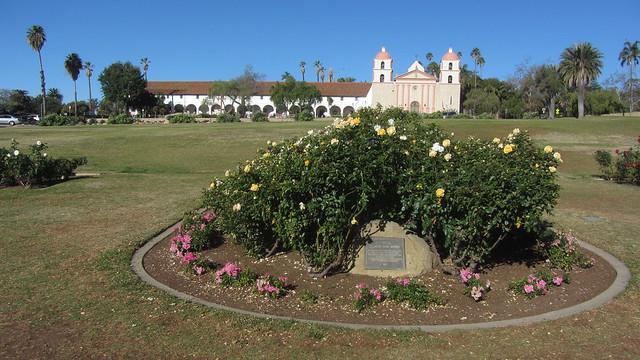IMG_8636 Santa Barbara Mission Postel Rose Garden center