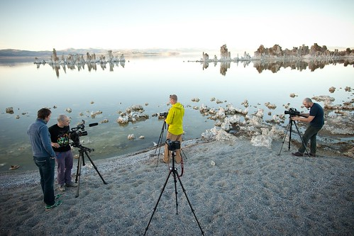 Manfrotto Be Free Tripod ad shoot BTS - Mono Lake BTS | by The Bui Brothers