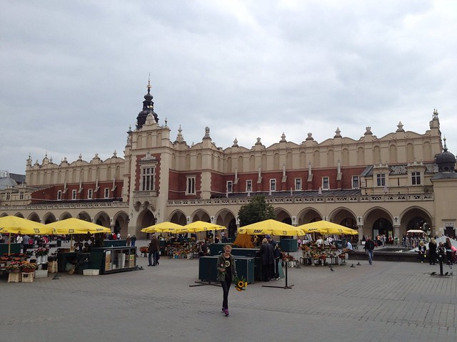 The Old Market Square, Krakow, Poland