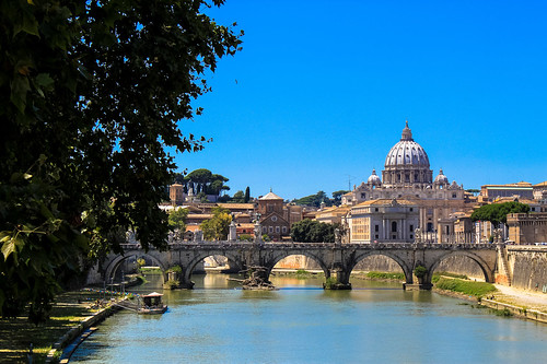 Looking along Tiber to Vatican | by Andy Hay