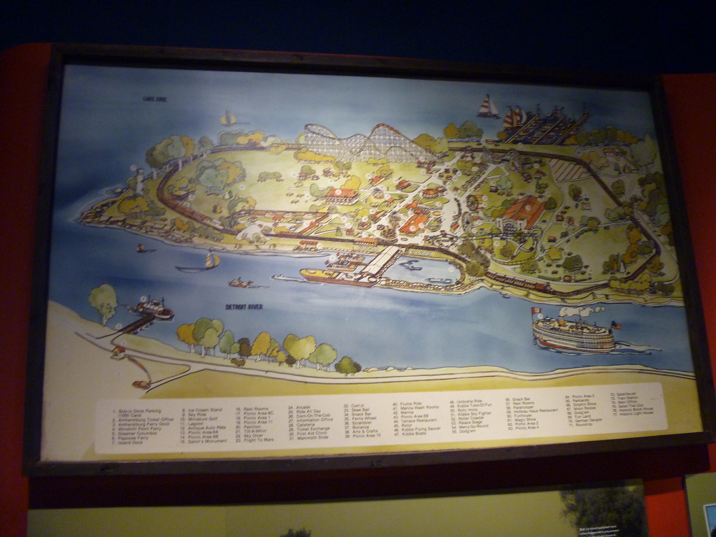 Boblo Island Map BOBLO Island map P1020377 | Display inside The Dossin Great … | Flickr