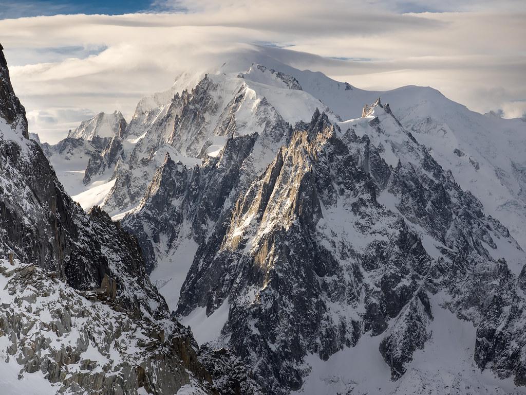 Mont-Blanc and Aiguille du Midi
