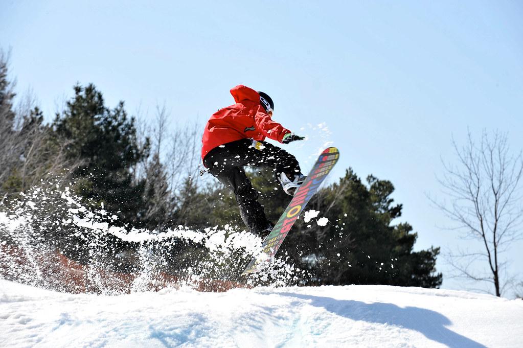 Toronto: snowboard en Centennial Park