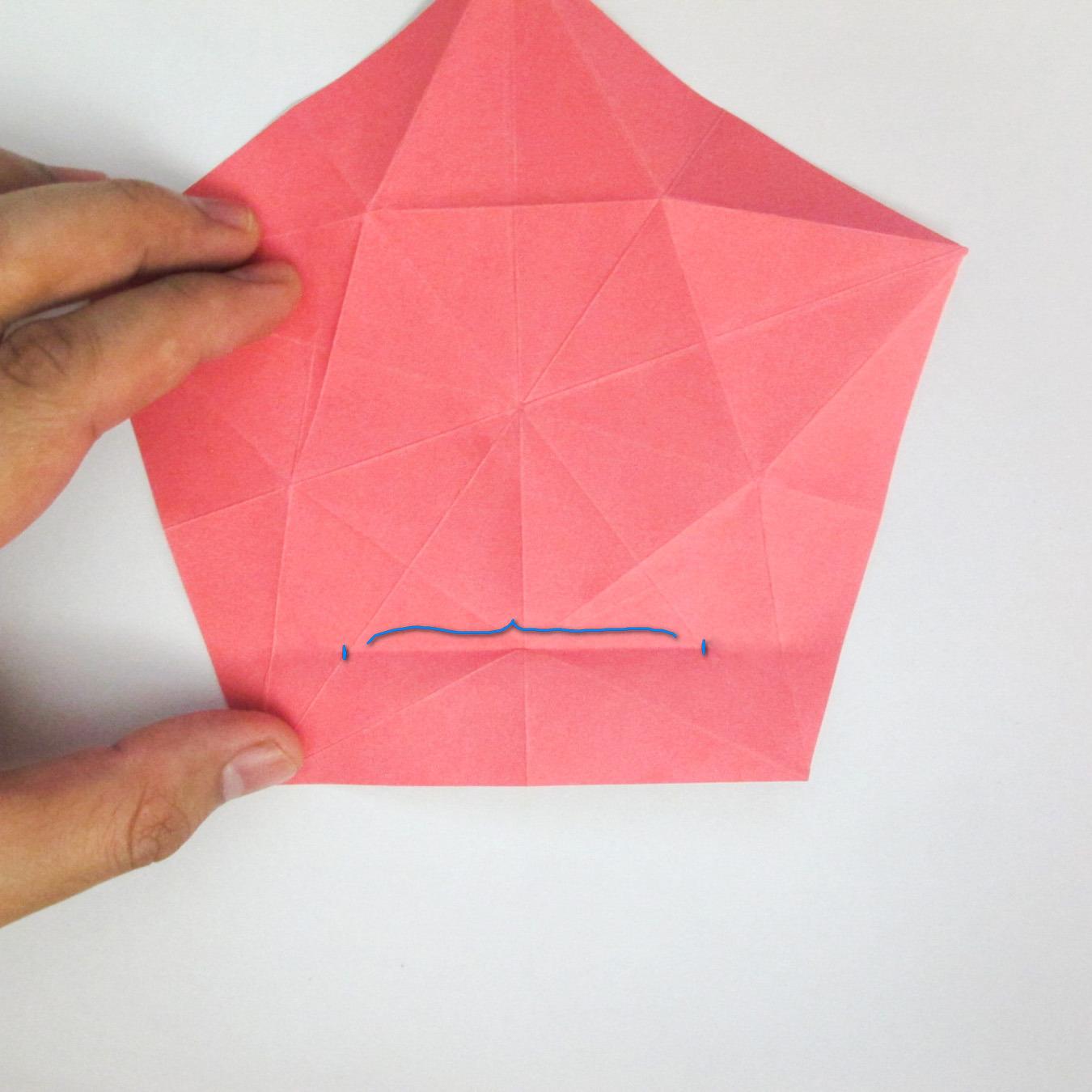 สอนวิธีการพับกระดาษเป็นดอกมะเฟือง (Origami Carambola) 016