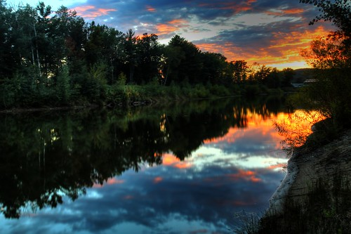 wisconsin sunset canon rothschild digital photomatix tonemapping hdr 24105l wi marathoncounty canon6d reflections centralwisconsin midwest usa america northamerica canoneos sky rothschildwisconsin marathoncountywisconsin dusk sundown water pond geotagged picturesque fineart