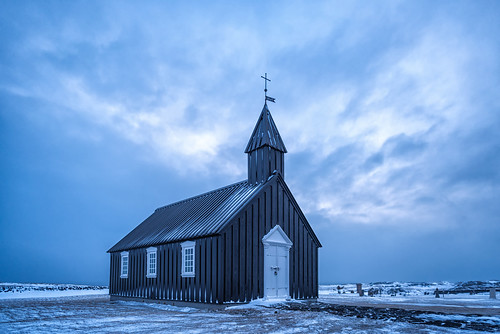 Blue hour at the Nineteenth century black church at Budir, Snaefellsnes Peninsula, Iceland | by diana_robinson