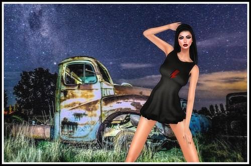 Saharas Bowie Dress for InspirationSL | by ariannajasminesl