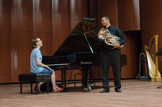 17-year-old composer Karalyn Schubring and 18-year-old euphonium player Joe Broom | by From the Top, Inc.