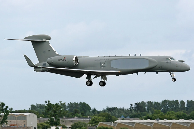 Italian Air Force Gulfstream G550CAEW, N554GA.