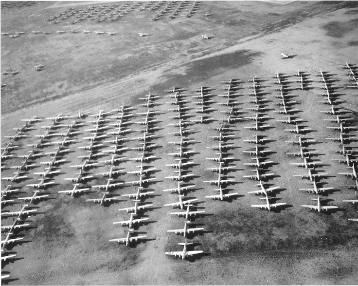 Hundreds of American B-17s