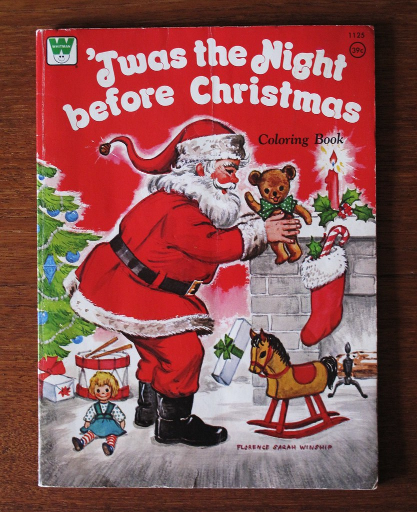 Vintage Whitman Christmas Coloring Book 1973 | Illustration ...