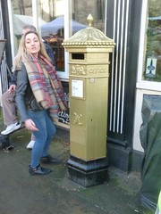 Sophie Wells London 2012 Olympics Gold Postbox Christmas Market Lincoln Dec 2013 A