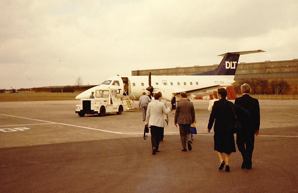 DLT_Embraer Brasilia_Birmingham Airport_Birmingham_Circa 1986