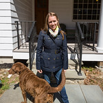 Emily and her new coat (also Row dog)