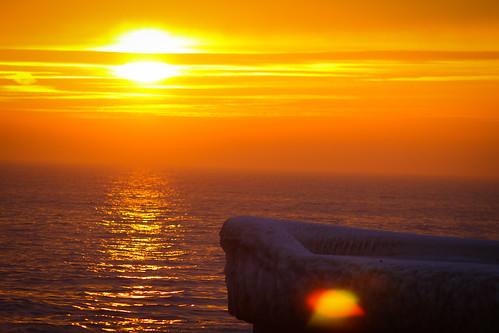 winter sunset sky orange ice port se harbor skåne sweden sverige uncropped trelleborg 2014 f32 smygehuk skånelän ef200mmf28lusm canoneos100d ¹⁄₃₂₀sek 7002022014162740