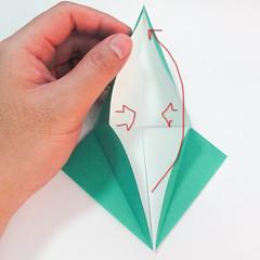 สอนวิธีการพับกระดาษเป็นรูปปลาฉลาม (Origami Shark) 011