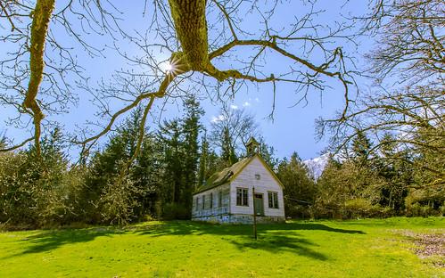 skagitcounty pleasantridge pleasantridgeschool sunstar trees brokenwindows abandoned explore