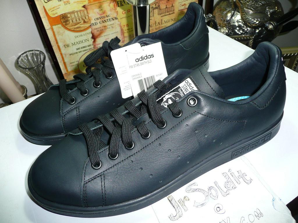 meet b2b5e 4e2c7 Pharrell Williams x Adidas Stan Smith Solid Black Size 11 ...