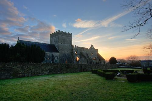 kilkenny ireland church st ruins ruin marys hdr collegiate 13thcentury gowran backpackphotography