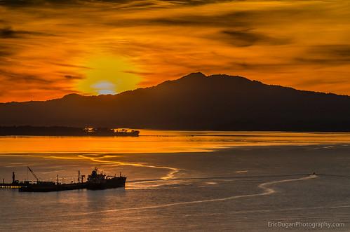 california sunset golden ship rodeo sfbayarea vallejo mounttam tanker sanpablobay glencove pointpinole