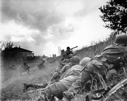 Soldados americanos en la campaña italiana
