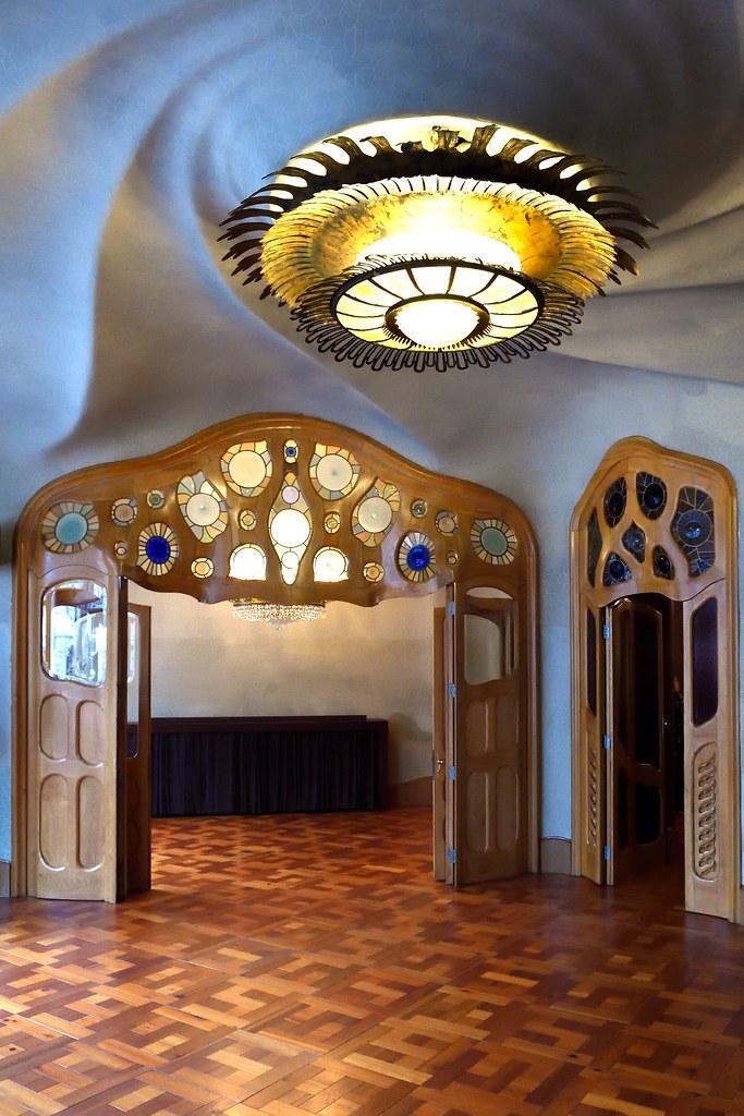 Interior of Casa Batlló in Barcelona, Spain