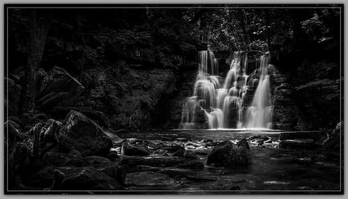 longexposure bw water monochrome mono blackwhite waterfalls cascades westyorkshire cullingworth niksoftware hardenbeck goitstockfalls silverefex