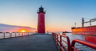 Red Lighthouse Sunrise | by VBuckley.com