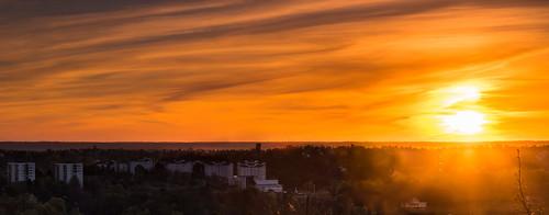 sky sun architecture clouds sunrise landscape europe sweden stockholm sthlm bergshamra sonyalpha sal70200g2 redfurwolf