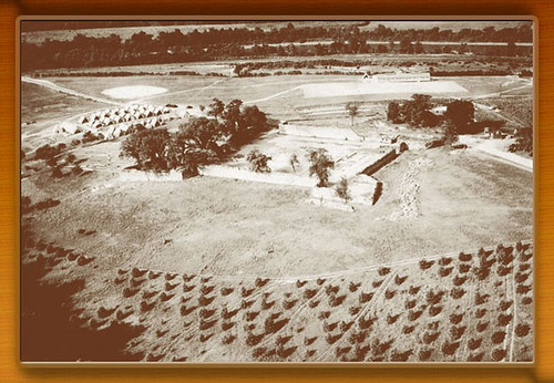 Vintage photo of Fort Frederick in the 1930s