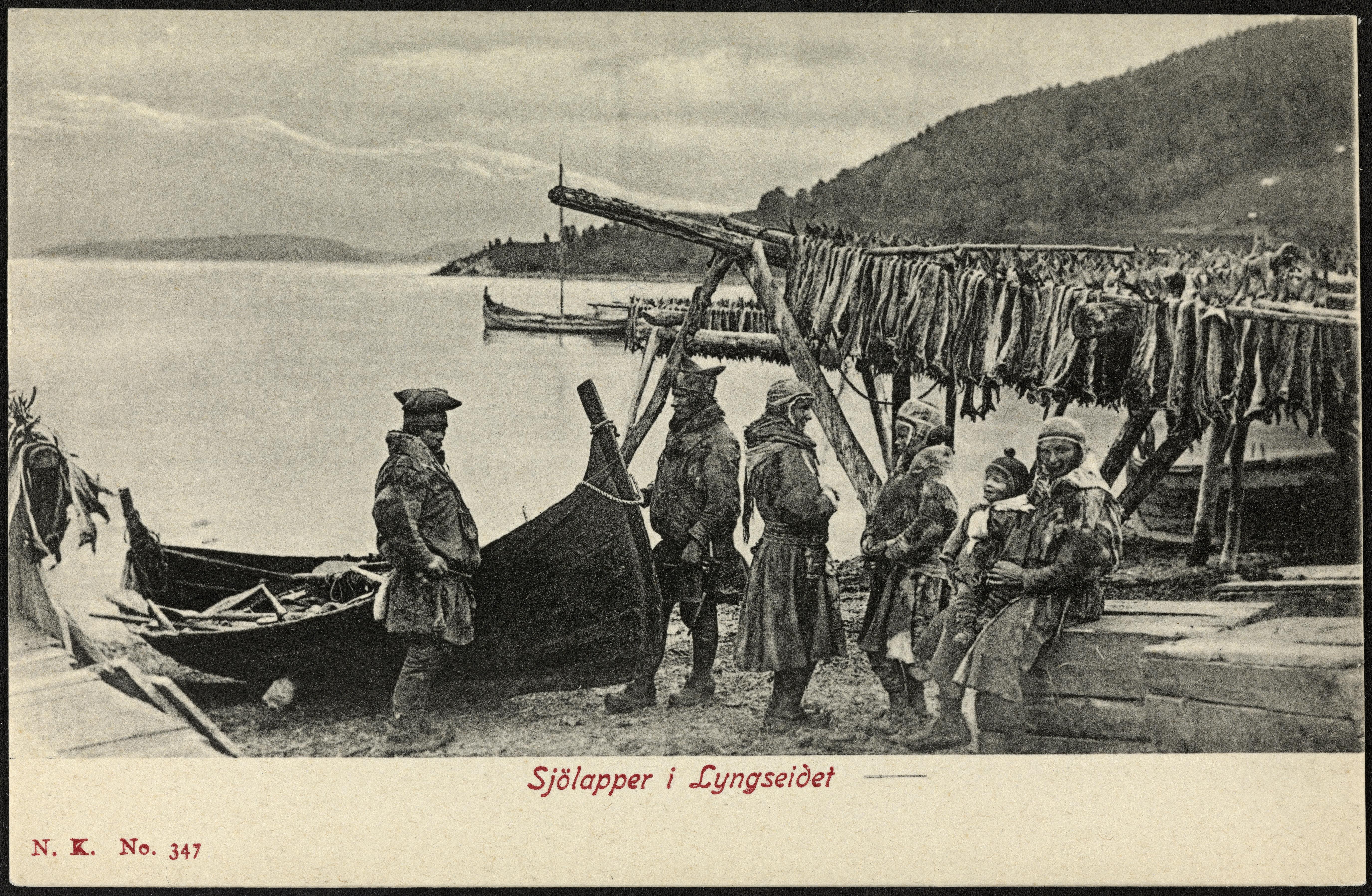 No. 347. Sjölapper i Lyngseidet / No. 347 Coast Sami at Lyngseidet