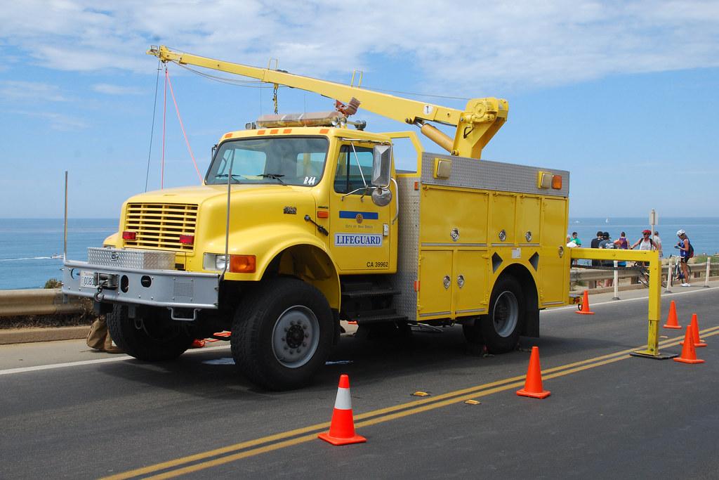 Used Trucks San Diego >> San Diego Lifeguard International Crane Truck Used For Hoi Flickr