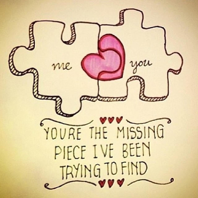 This is cute #adorable #love #lovequotes #heart #puzzle #t ...