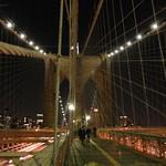 Brooklyn bridge web of wires