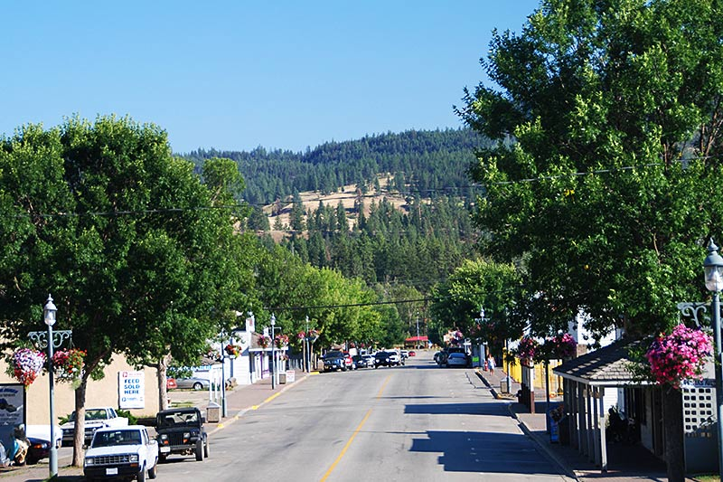 Princeton in the Similkameen region, Southern British Columbia, Canada